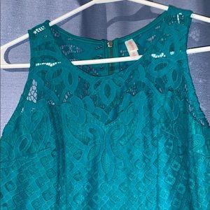 Summer Dress Lace Overlay